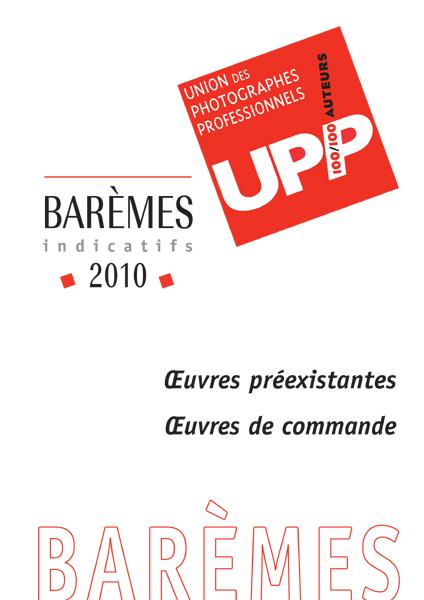 Barèmes de l'Union des Photographe Professionnels
