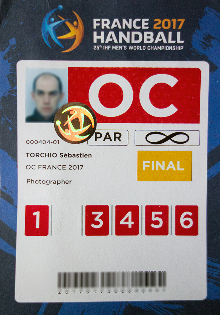 Accréditation Photographe France Handball 2017 Sébastien TORCHIO