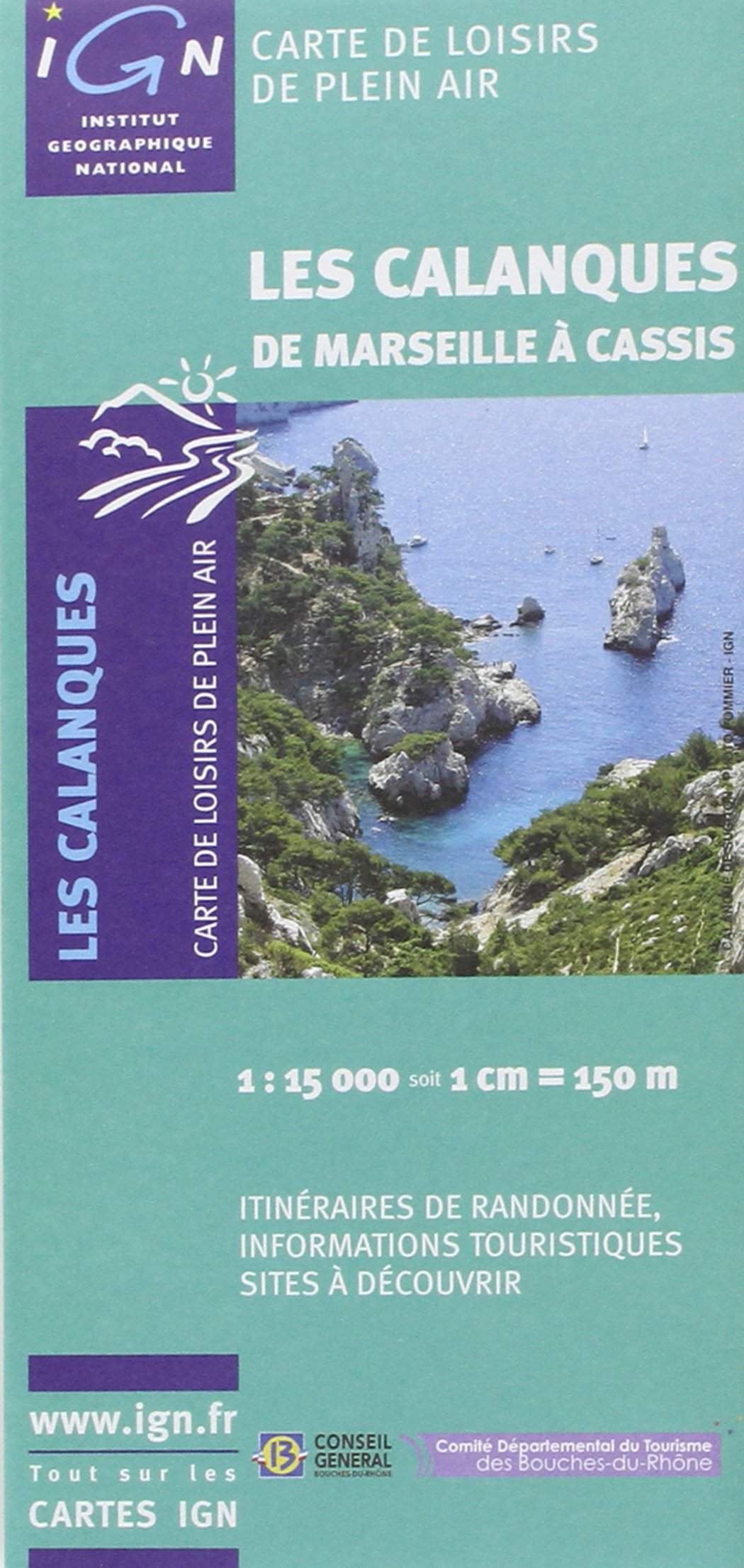 Carte IGN Calanques