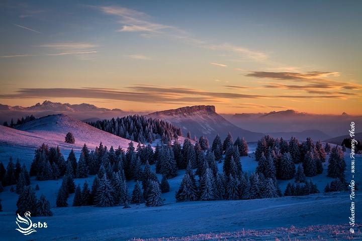 Coucher de Soleil sur le Mont Revard (Bauges) - © Sébastien TORCHIO, www.Annecy.Photo