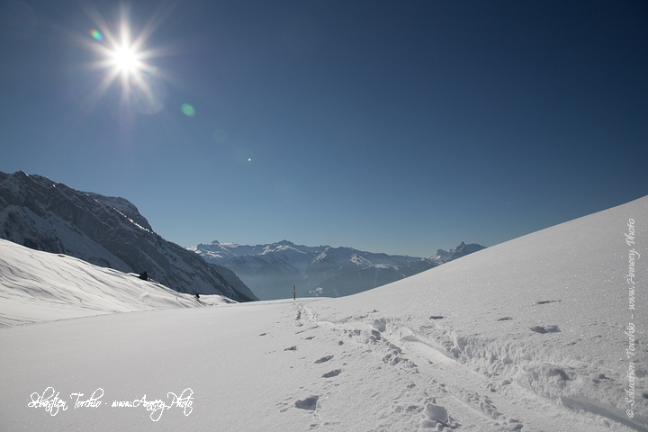 Col de la Golèse sous la neige © Sébastien TORCHIO, www.Annecy.Photo