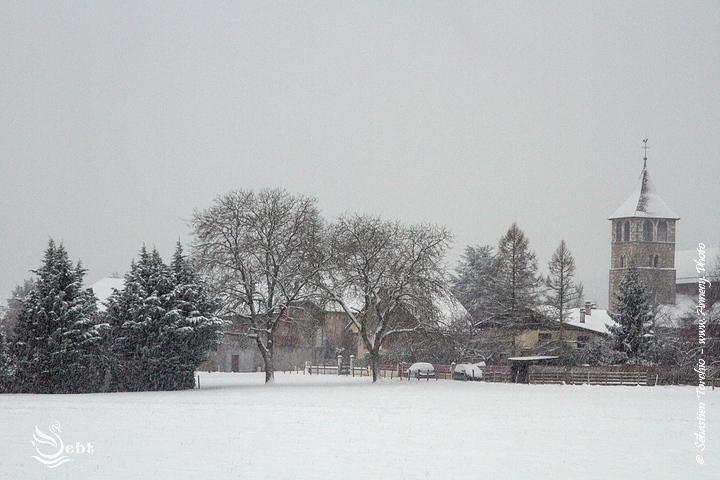 Poisy (Haute-Savoie) sous la neige @Sébastien TORCHIO, www.Annecy.Photo