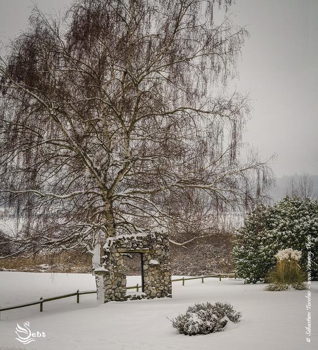 Dès l'entrée du village de Poisy, le décor hivernale était posé © Sébastien TORCHIO, www.Annecy.Photo