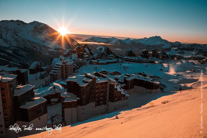 Coucher de soleil sur Avoriaz © Sébastien TORCHIO