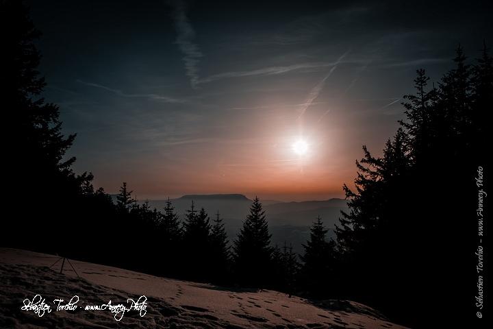 Coucher de soleil sur le Semnoz © Sébastien TORCHIO, www.Annecy.Photo