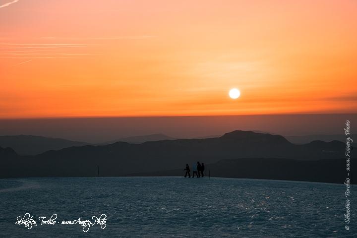 Coucher de soleil sur l'Albanais depuis le Semnoz © Sébastien TORCHIO, www.Annecy.Photo