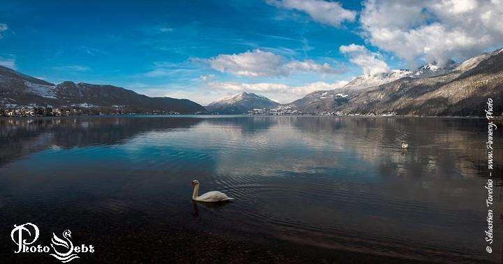 Panorama du Bout du Lac d'Annecy  - © Sébastien TORCHIO, www.Annecy.Photo