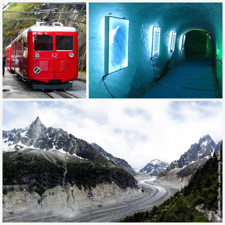 Grotte de Glace, Mer de Glace et train du Montenvers à Chamonix - © Sébastien TORCHIO